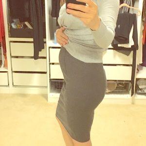 (Maternity) Ann Taylor Ponte Pencil Skirt
